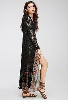 Crochet Maxi Cardigan | Forever 21 - 2000098679