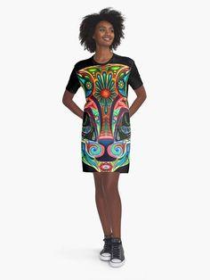 Rainbow cat /black tshirt dress Robe noir imprimé Black Tshirt Dress, T Shirt, Dress Robes, Artist, How To Wear, Outfits, Dresses, Dress Black, Supreme T Shirt
