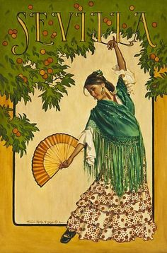 Vintage Poster.Sevilla, Spain.