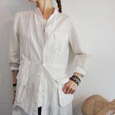 【14 SS】dosa(ドーサ) safari shirtdress シャツワンピース(WHITE) - acoustics Lady's
