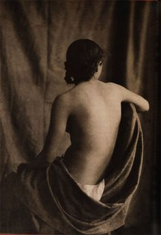 Eugene Durieu/Eugene #Delacroix. #Nude from Behind, ca. 1853 #photograph