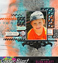 Scrapbooking, Kids Scrapbook, Scrapbook Layouts, Photo Layouts, General Crafts, First Photo, Grunge, Mixed Media, Paper Crafts