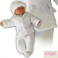 Christening Outfit Toff Bis White