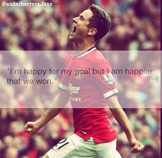 #Soccer #Quotes - #AnderHerrera Soccer Quotes, Im Happy, My Goals, I Am Happy, I'm Happy, Football Quotes