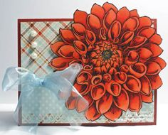 My first card featured on the Stampendous blog!  Woohoo!  Thank you, Stampendous!