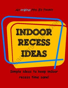 Your Teacher's Aide: Indoor Recess Games