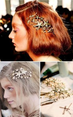 Rodarte celestial hair clips – DIY