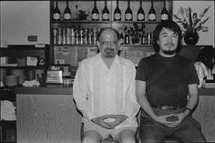 Ai Wei Wei and Alan Ginsberg : Lower East Side Restaurant. Courtesy of Three Shadows Photography Art Center Gropius Bau, Poetry Projects, Short Fuse, Allen Ginsberg, Wei Wei, Ai Weiwei, Beat Generation, Fluxus, Shadow Photography