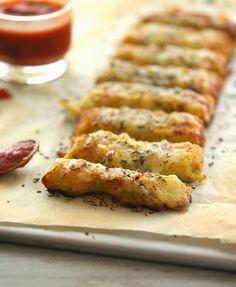 Cauliflower Crust Garlic Breadsticks #justeatrealfood #theironyou