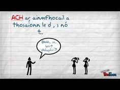 "Na hUimhreacha Pearsanta: beirt bhan - For counting people 1-12 - Followed by plural ginideach - Followed by séimhiú (except for s, t, d) - Not for word ""duine""... Irish Language, Teaching Resources, Counting, Classroom Ideas, Learning, Words, School, Youtube, People"