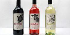 Fifteen London wood cut illustration wine labels.