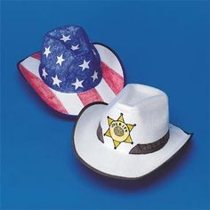 Larger image for Color-Me™ Cowboy Hats Craft Kit (makes 12)