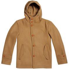 Edifice Melton Hooded Coat (Beige)