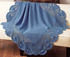 Gorgeous crocheted afghan.