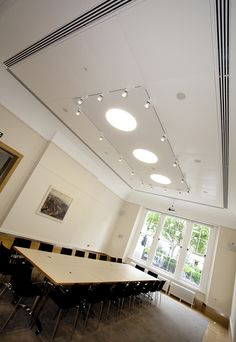 The Sir Kirby Laing Room - Prince Philip House Listed Building, Prince Philip, Contemporary Design, Restoration, Rooms, Ceiling Lights, Interior, Table, House