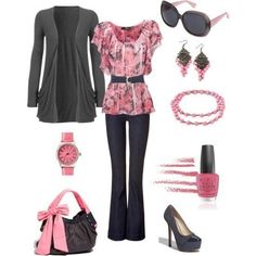 Wish | Pink And Black Outfit