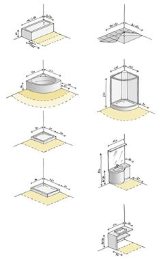 Plan d 39 une salle d 39 eau de 4 20 m avec douche wc et for Salle de bain 2m2