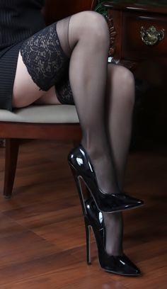Black Lace Stocking