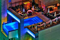 Hotel The Joule-- one of the best hotel pools. Dallas, TX