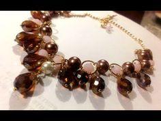 Como hacer un Collar Elegante de Cristales Gotas : Pekas Creaciones