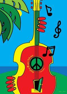 Reggae, Rasta, guitar peace
