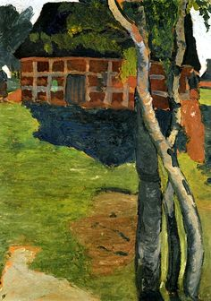 Birch Trees in front of a Barn Paula Modersohn-Becker - 1900