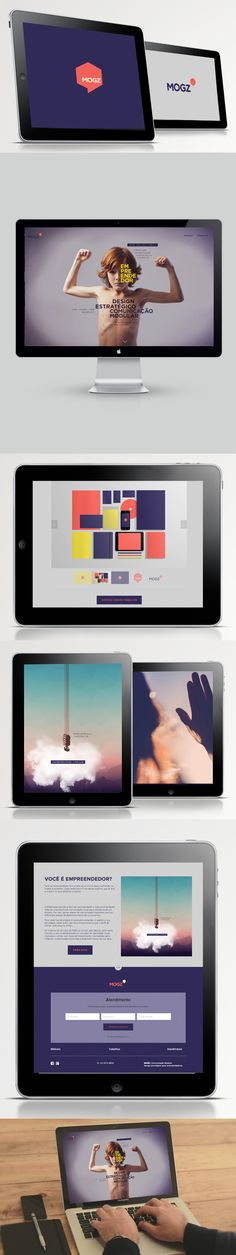 MOGZ WEB by Daniela Oliveira, via Behance