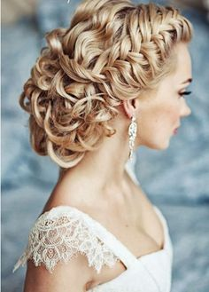 OMG. Lovely! <3 this updo. I may pair this with Dutch braids on the bridesmaides