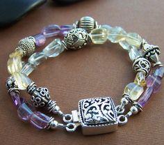 Aquarius Bracelet  Quartz and Sterling Silver by StoneStreetStudio, $189.00