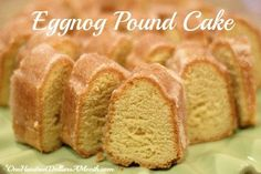 Neither the Handsome Husband or I are fans of Eggnog, but we do like eggnog pound cake, and let me tell you, this recipe is da& bomb! Not only is this eggnog pound cake super moist, it& the perfect {simple} dessert to bring along to a holiday open. Eggnog Pound Cake Recipe, Eggnog Recipe, Pound Cake Recipes, Pound Cakes, Eggnog Cake, Hennessy Pound Cake Recipe, Köstliche Desserts, Holiday Baking, Christmas Desserts