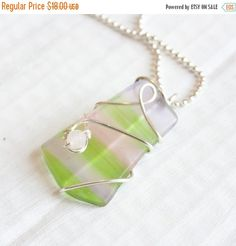 Christmas Sale Light Pink and Green Wire by HopeFilledJewelry
