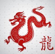 chinese papercut dragon vector