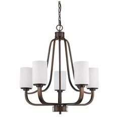 Acclaim Lighting Addison Indoor 5-Light Chandelier With Shades In Oil Rubbed