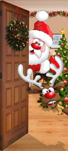 Good Morning Christmas, Christmas Love, Christmas Pictures, Merry Christmas Images, Christmas Front Doors, Christmas Door Decorations, Holiday Decor, Christmas Wreaths, Holiday Wallpaper