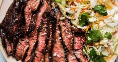Grilled Five Spice Flank Steak Traeger Recipes, Beef Recipes, Ways To Cook Steak, Asian Chopped Salad, Chinese Spices, Grilled Steak Recipes, Juicy Steak, Dinner Salads, Flank Steak