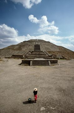 Pyramid of the Sun Teotihuacanm, Mexico, a photo by David Ryan on Etsy