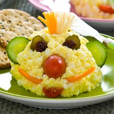 Egg Salad for Kids | Get Cracking | Make meal time fun with an adorable egg salad for kids. Use the salad to create fun faces that taste great.