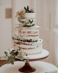 Wedding Cake Rustic, Elegant Wedding Cakes, Wedding Cake Designs, Rustic Cake, Wedding Table, Perfect Wedding, Fall Wedding, Dream Wedding, Boho Wedding