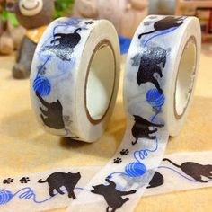 Black Cat Adhesive Tape - Two Stupid Cats Shop outside the box with this Black Cat Adhesive Tape. This tape will make your life better and funnier. A great addition to your office. Free Shipping!