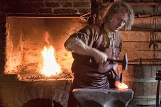 One of many Medieval blacksmiths that would have been used to construct a castle. Many of these blacksmiths often built tools that would be used for building the castle.