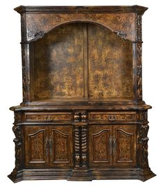 Stunning Barcelona Buffet & Hutch, inspired in Tuscan styles made by Peruvian Artisans, hand painted, hand forged iron handles. Tuscan Furniture, Rustic Furniture, Furniture Decor, Furniture Online, Hand Painted Furniture, Handmade Furniture, Tuscan Decorating, Decorating Tips, Rustic Design
