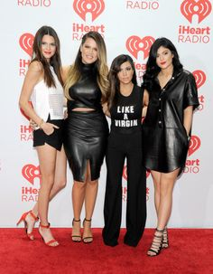 "khloekardashianfashionstyle: "" September 21, 2013 - Kendall, Khloe, Kourtney and Kylie at the iHeartRadio Music Festival in Las Vegas. """