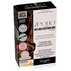 AEQUO 4G GOLDEN BROWN PERMANENT NATURAL HAIR COLORING CREME KIT -- For more information, visit image link. (This is an affiliate link and I receive a commission for the sales)