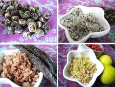 A selection of homemade flavoured salts; jasmine salt, lavender/rosemary/thyme salt etc - see Jamie's Kitchen...