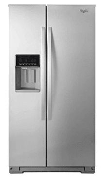 Whirlpool 36 Inch Counter-Depth Side-by-Side Refrigerator with 21 Cu. Capacity, LED Lighting, Frameless Glass Shelves and In-Door-Ice Pluse Ice Dispensing System, in Monochromatic Stainless Steel