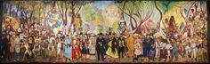 Diego Rivera´s mural Sueño de una tarde dominical en la Alameda Central,