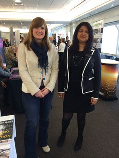 Shamshad and Kate at the Showcase, Market and Sell Roadshow at Trent Bridge Cricket Ground.