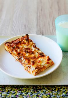 """A copycat version of the """"old school"""" rectangle pizza served at school by the lunch ladies!"""