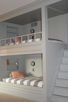 Bunk bed idea... with built in stairs.