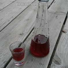 Cherry liqueurs are among the easiest liqueurs to make at home, and it is also easy to obtain a flavor which is comparable with commercial cherry liqueurs. Homemade cherry liqueurs may be served with ice, and may also be used for making cocktails.   Ingredients:  1 lb. (450 g) sour cherries 3 cups (710 ml) vodka (or 1 1/2 cup pure grain alcohol + 1 1/2 cup water). 1 1/2 cup (350 g) sugar